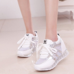 Shoespie Round Toe Mesh Fashion Sneakers