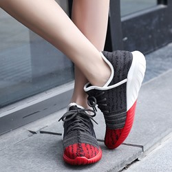 Shoespie Mesh Color Block Fashion Sneakers