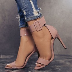 Shoespie Pink Ankle Strap Stiletto Heel Sandals