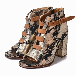 Shoespie Retro Stylish Open Toe Chunky Heel Fashion Booties
