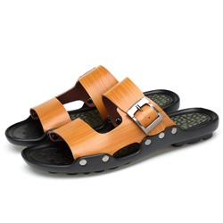 Shoespie Buckles Men's Beach Flip Flops