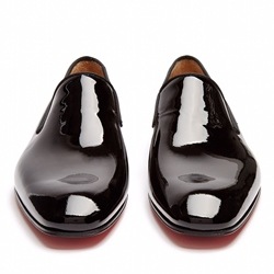 Shoespie Black Shine Leather Men's Dress Shoes