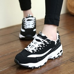 Shoespie Trendy Portable Black-White Flatform Sneaker