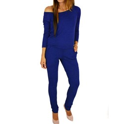 Plain Pocket Pencil Pants Women's Jumpsuit
