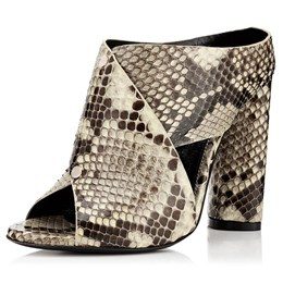 Shoespie Peep-toe Breathable Stone Pattern Ankle Boots
