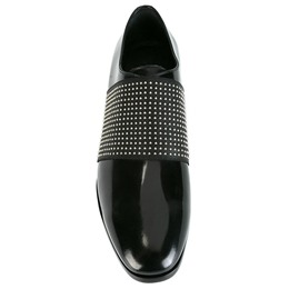 Shoespie Black Arch Patchwork Slip On Men's Dress Shoes