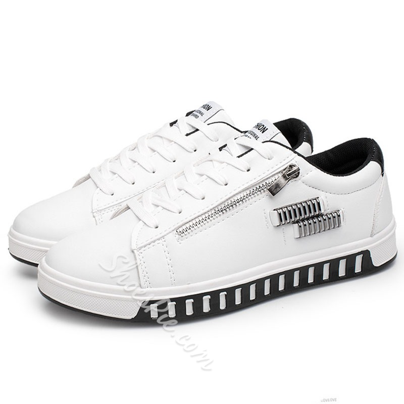 Shoespie Side Zipper Men's Sneakers