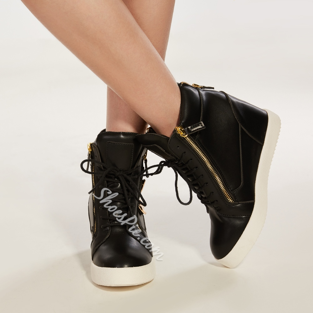 Shoespie Golen Leaves Elevated Sneakers