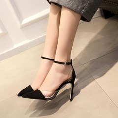 Shoespie Sexy Pointed-toe Illusion Thin Ankle Wrap Stiletto Heels