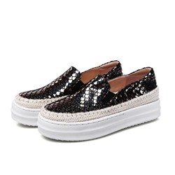 Shoespie Flatform Weave Chromatic Scale Sneaker