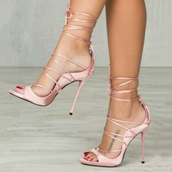 Shoespie Pink Cross Strap Sandals