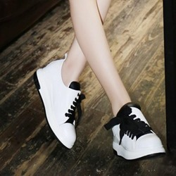 Shoespie Casual Flatform Sideways Lace-up Sneaker