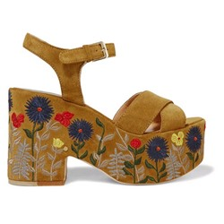 Shoespie Embroidery Block Heel Platform Sandals