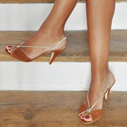 Shoespie Slingback Peep Toe Stiletto Heel Sandals