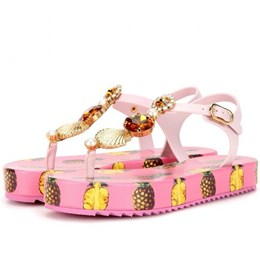 Shoespie Pineapple Pattern Thick Sole Sandals