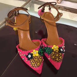 Shoespie Pineapple Pointed Toe Sandals
