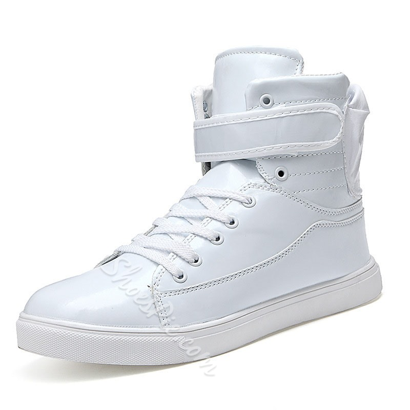 Mens White High Top Tennis Shoes