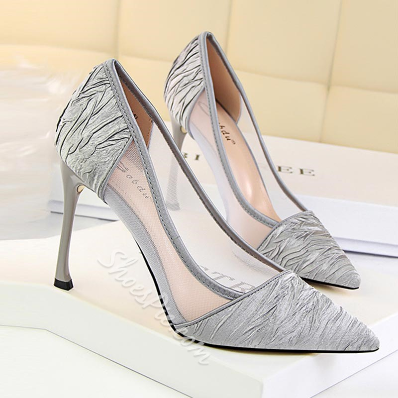 Shoespie Sexy Lace Reticular Stiletto Heels Cutout Stiletto Heels