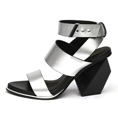 Shoespie Unique Block Heel Roman Sandals