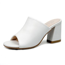 Shoespie Flip Flop Slip-On Chunky Heel Mules Shoes