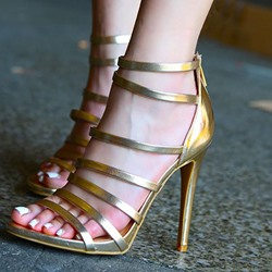 Shoespie Open Toe Zipper Heel Covering Sandals