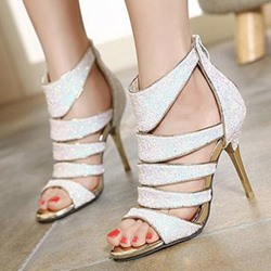 Shoespie Hollow Zipper Banquet Stiletto Heels Dress Sandals