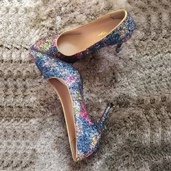 2a867670933e Shoespie Shining Starry sky Pointed-toe Shallow Stiletto Heels