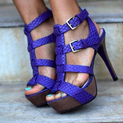Shoespie Platform Buckle Stiletto Heel Sandals