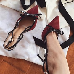 Shoespie Sexy Bow Pointed-toe Stiletto Heels