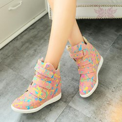 Shoespie Stylish Hidden Elevator Heel Convertible Sneakers