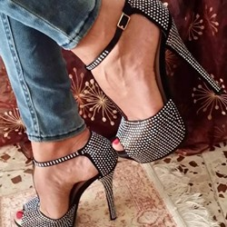 Shoespie Peep Toe Platform Heel Sandals