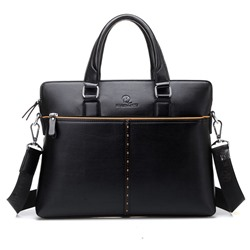 Shoespie PU Plain Thread Men Tote Bags