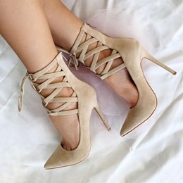 Shoespie Sexy Cross Strap Pointed Toe Stiletto Heels