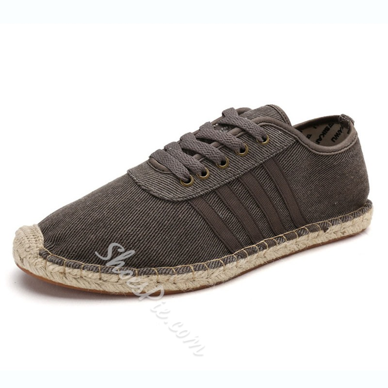 Shoespie Casual Round Toe Lace-Up Cloth Men's Loafers