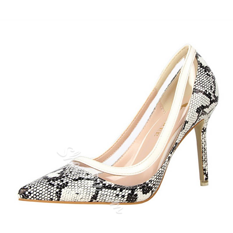 Shoespie Sexy Snake Pointed-toe Stiletto Heels