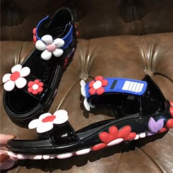 Shoespie Super Cute Flora Applicure Flat Sandals