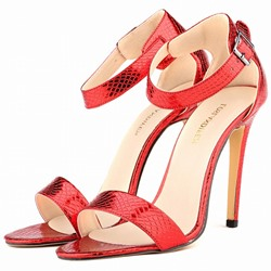 Shoespie Multi Color All Match Ankle Strap Heel Sandals