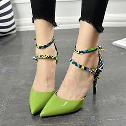 Shoespie Double Lace-up Stiletto Heels