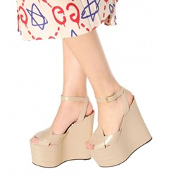 Shoespie Peep Toe Ankle Strap Platform Wedge Sandals