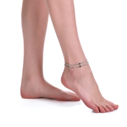 Shoespie Double Layer Heart Anklet for Women