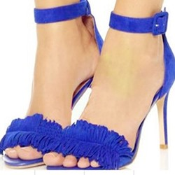 Shoespie Ankle Strap and Tassels Stiletto Heel Sandals