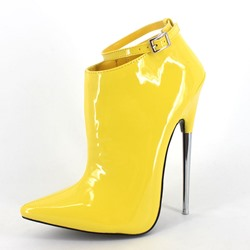 Shoespie Sexy Pointed-toe Metal Buckles Ankle Boots