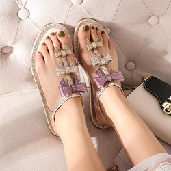 Shoespie Cute Bows Flat Sandals