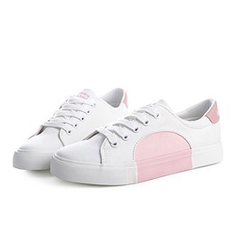 Shoespie Platform Color Block Lace-Up Sneaker