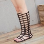 Shoespie Cutout Middle Shaft Gladiator Sandals