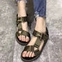 Shoespie Nylon Wide Straps Flat Gladiator Sandals