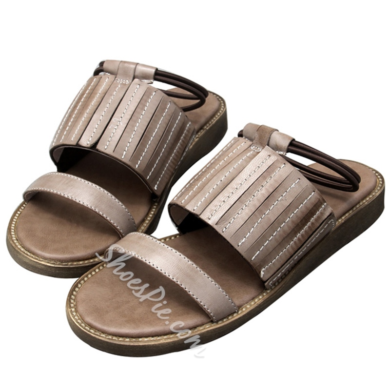 Shoespie Casual Slip-On Flip Flop Flat Sandal