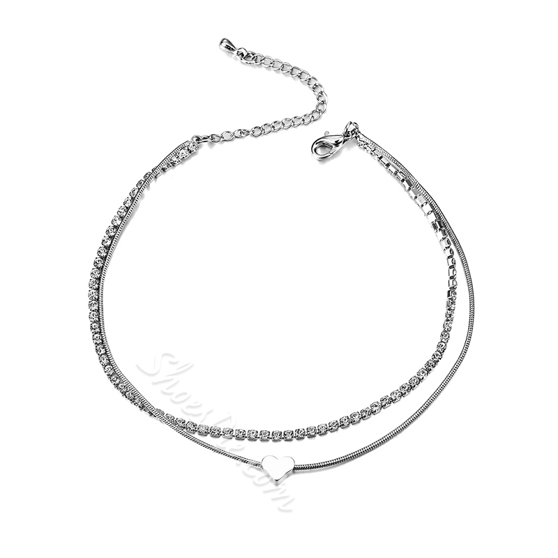 Ericdress Concise Heart Anklet for Women