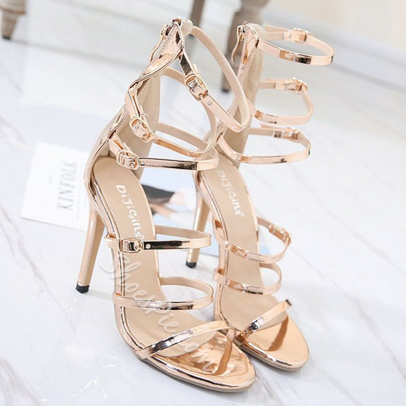 Shoespie Strappy and Buckles Dress Sandals