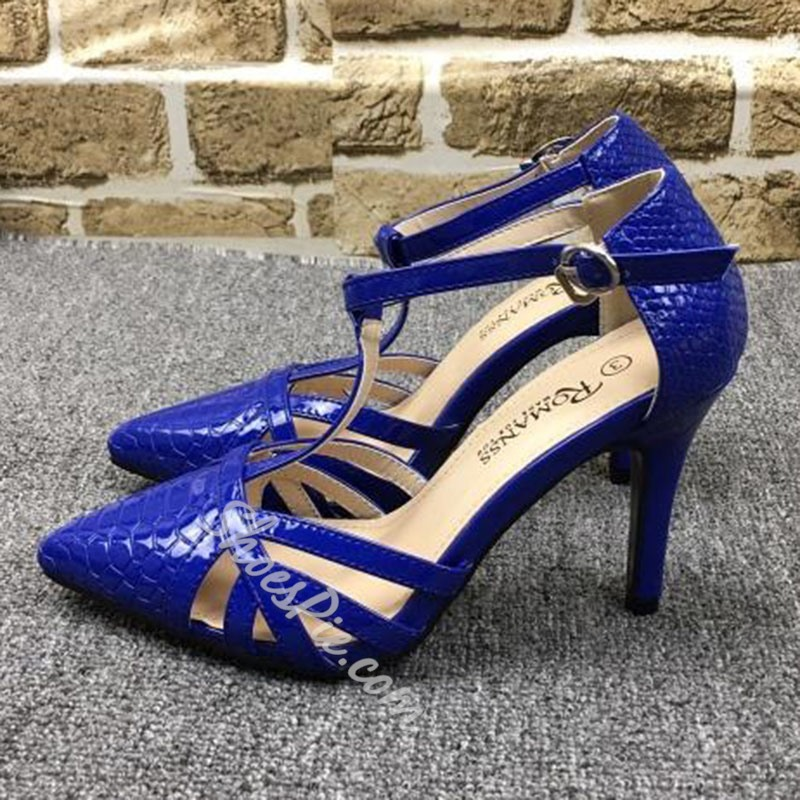 Shoespie Sexy T-Strap Pointed-toe Stiletto Heels